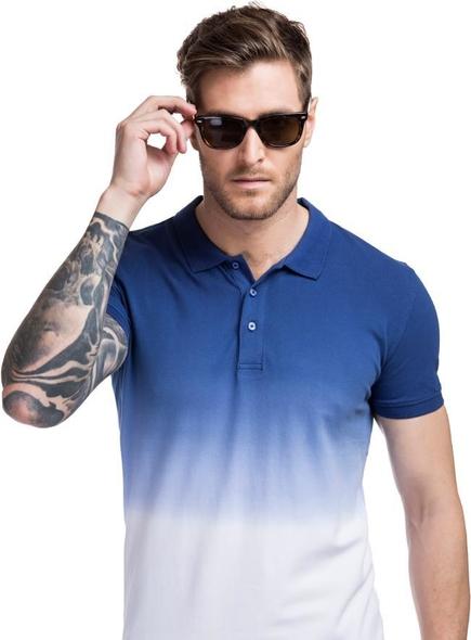 Niebieska koszulka polo Giacomo Conti