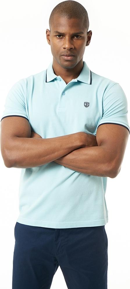 Niebieska koszulka polo Jimmy Sanders