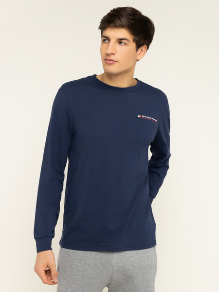 Niebieska koszulka z długim rękawem Tommy Sport