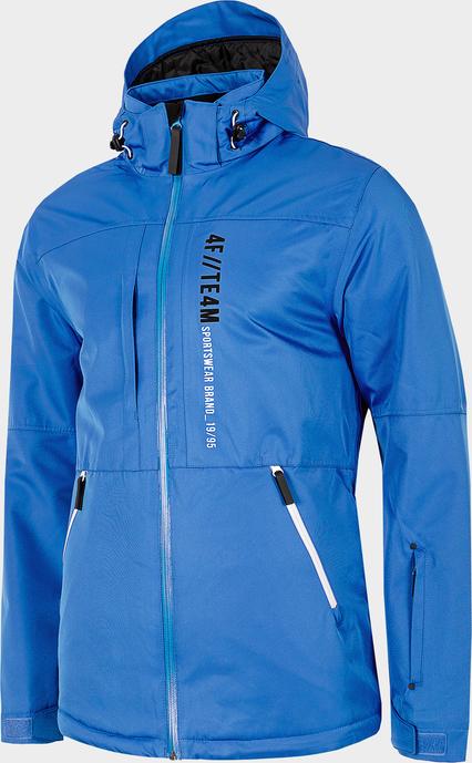 Niebieska kurtka 4F w sportowym stylu