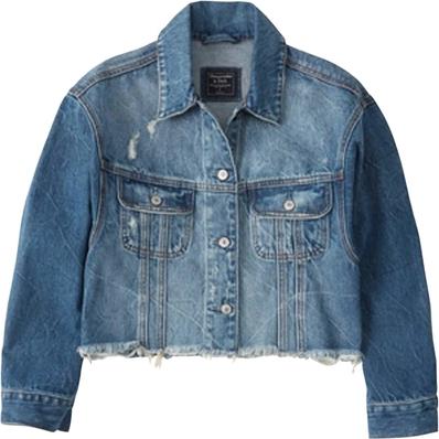 Niebieska kurtka Abercrombie & Fitch z jeansu