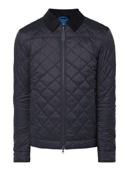 Niebieska kurtka Barbour ze sztruksu w stylu casual
