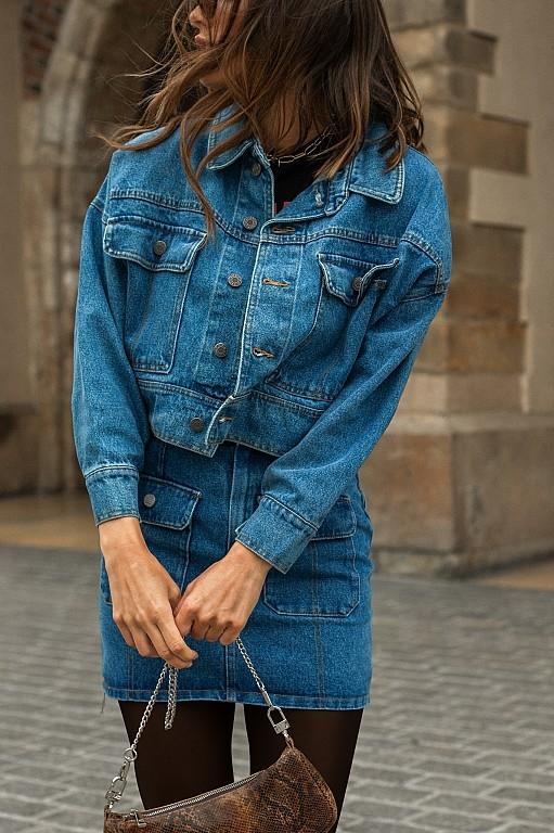Niebieska kurtka Chiara Poland