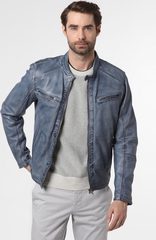 Niebieska kurtka DENIM by Nils Sundström w stylu casual