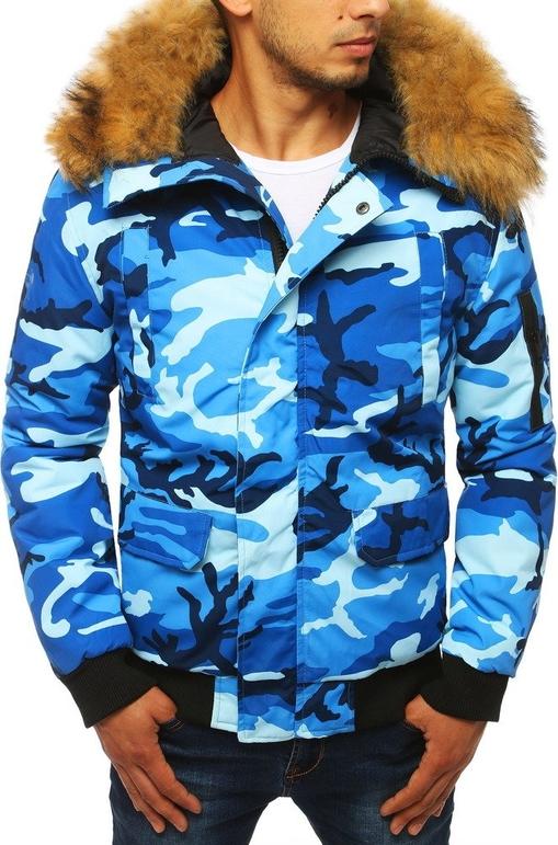 Niebieska kurtka Dstreet w militarnym stylu