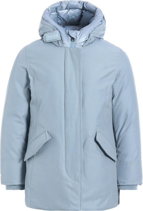 Niebieska kurtka dziecięca Woolrich z bawełny