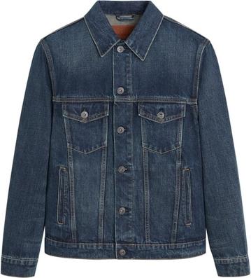 Niebieska kurtka Mango Man z jeansu w młodzieżowym stylu