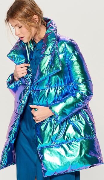 Niebieska kurtka Mohito długa