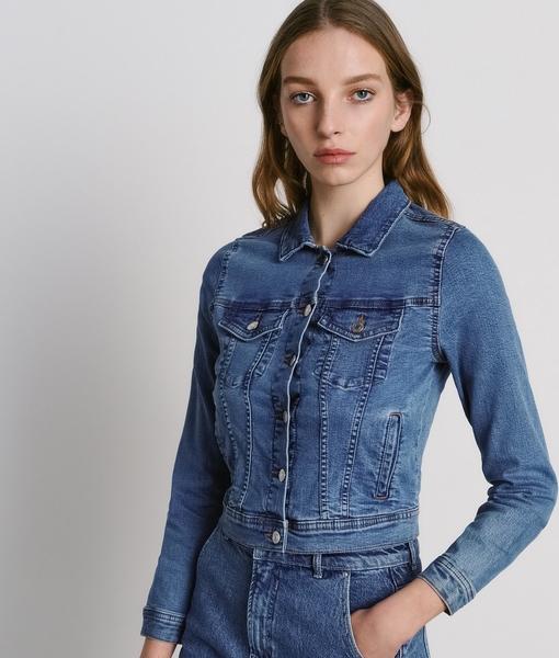 Niebieska kurtka Reserved krótka