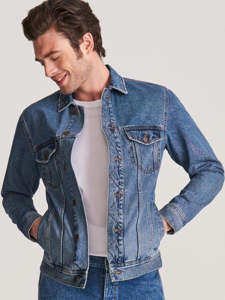 Niebieska kurtka Reserved z jeansu w stylu casual