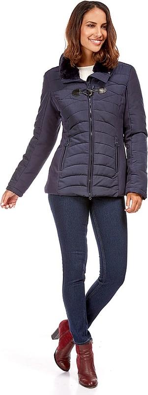 Niebieska kurtka Snowie Collection krótka w stylu casual