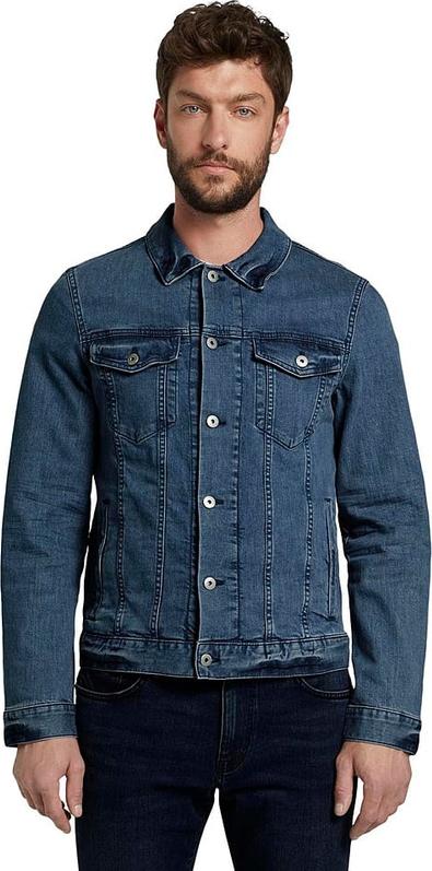Niebieska kurtka Tom Tailor w stylu casual krótka