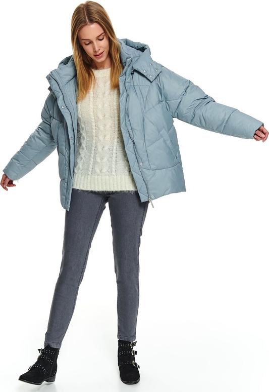 Niebieska kurtka Top Secret długa