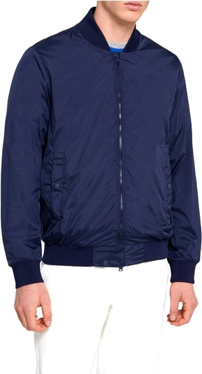 Niebieska kurtka Woolrich z tkaniny