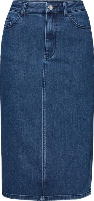 Niebieska spódnica EDITED midi