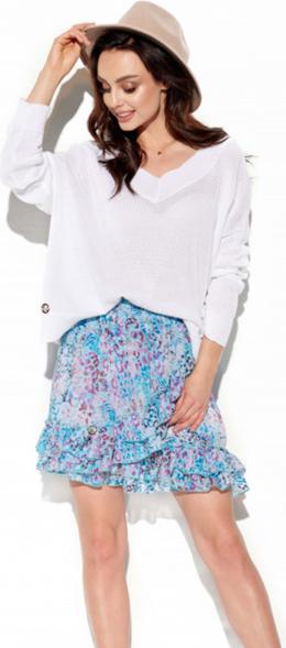 Niebieska spódnica Lemoniade z jedwabiu