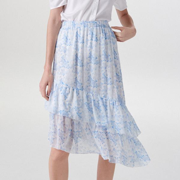 Niebieska spódnica Mohito midi w stylu boho