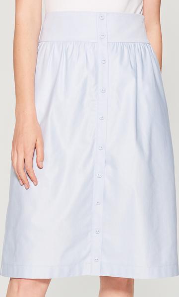 f3178421 Niebieska spódnica Mohito w stylu casual