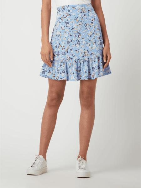 Niebieska spódnica Pieces w stylu casual