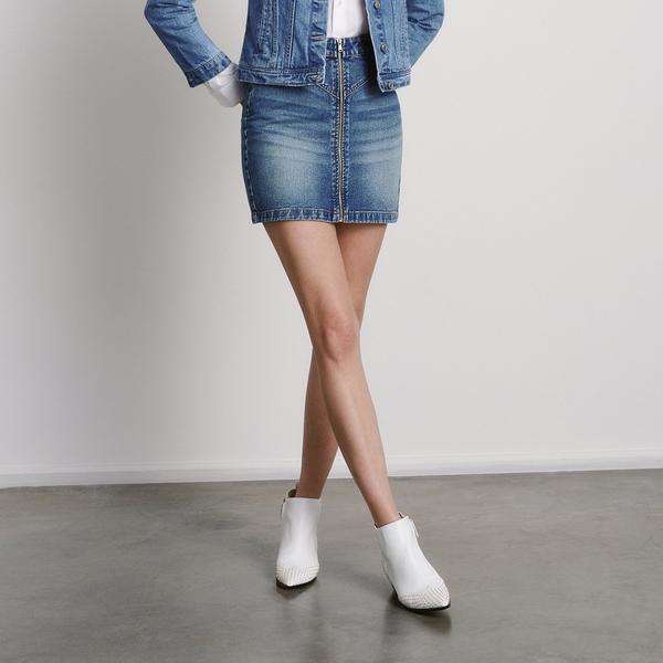Niebieska spódnica Reserved z jeansu mini