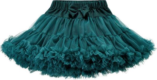 Niebieska spódniczka dziewczęca Elefunt z tiulu