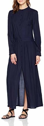Niebieska sukienka amazon.de z okrągłym dekoltem