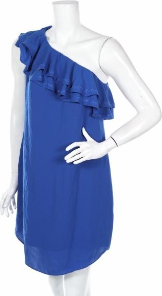 Niebieska sukienka Apt.9 z asymetrycznym dekoltem mini bez rękawów