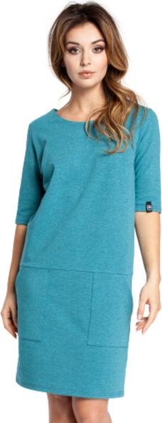 Niebieska sukienka Be