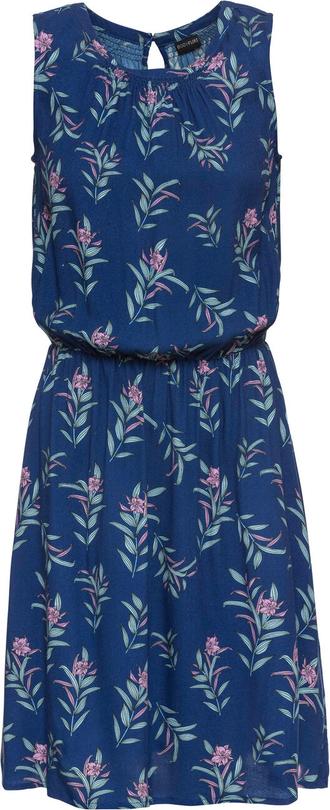 Niebieska sukienka bonprix BODYFLIRT rozkloszowana bez rękawów
