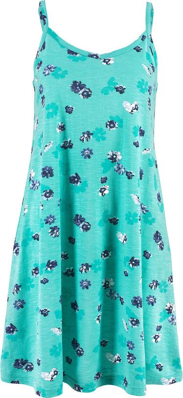 Niebieska sukienka bonprix bpc bonprix collection na spacer