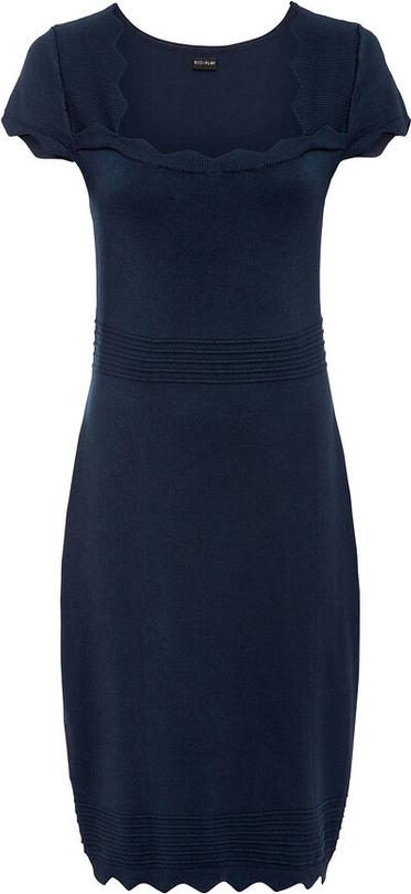 Niebieska sukienka bonprix z krótkim rękawem