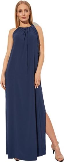 Niebieska sukienka CAHA maxi