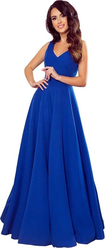 Niebieska sukienka Coco Style maxi
