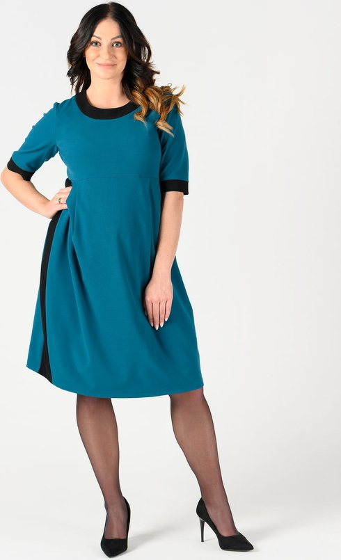 Niebieska sukienka Danica Maternity