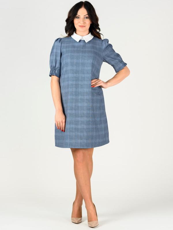 Niebieska sukienka Danica Maternity z wełny