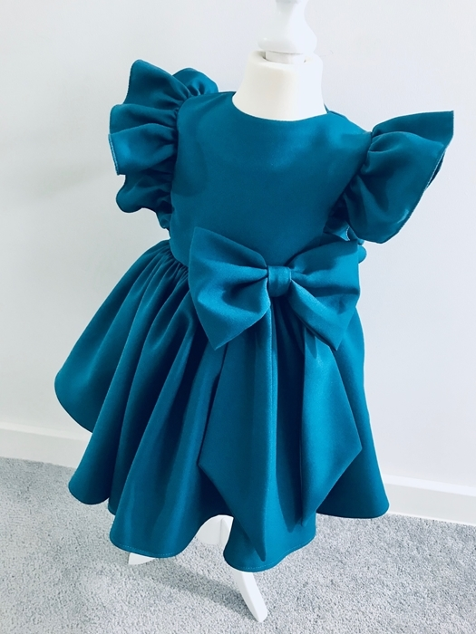 Niebieska sukienka dziewczęca La Perełka