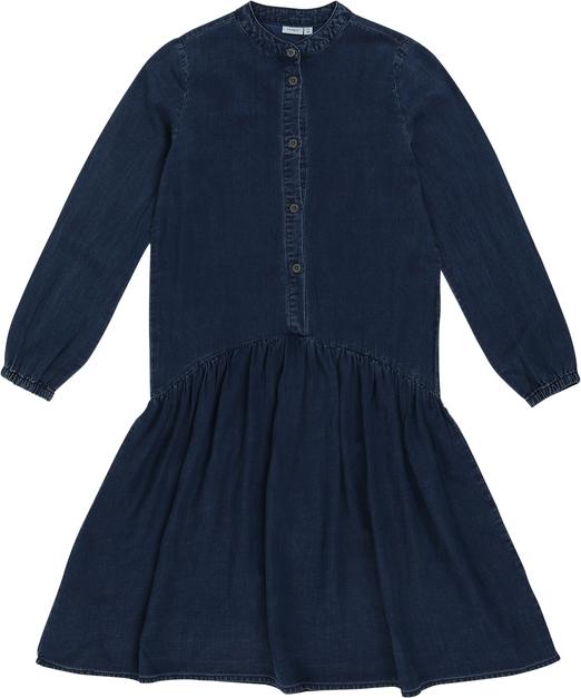 Niebieska sukienka dziewczęca Name it
