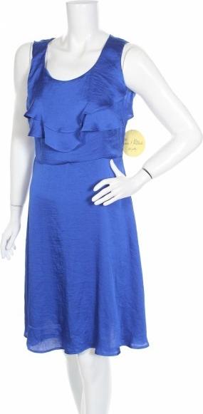 Niebieska sukienka Emma F Michele mini z okrągłym dekoltem