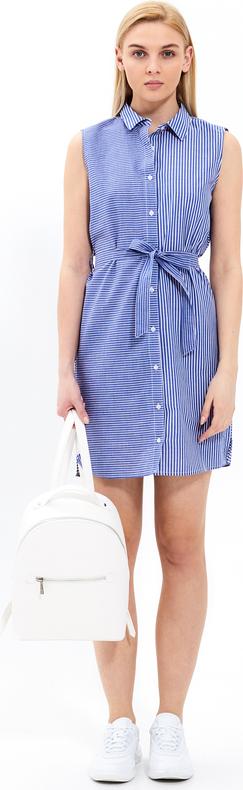 Niebieska sukienka Gate koszulowa