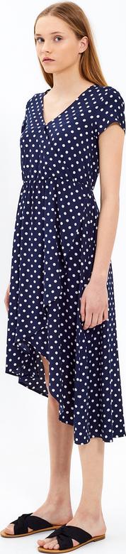 Niebieska sukienka Gate midi w stylu casual z krótkim rękawem