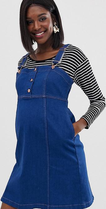 Niebieska sukienka Gebe Maternity mini