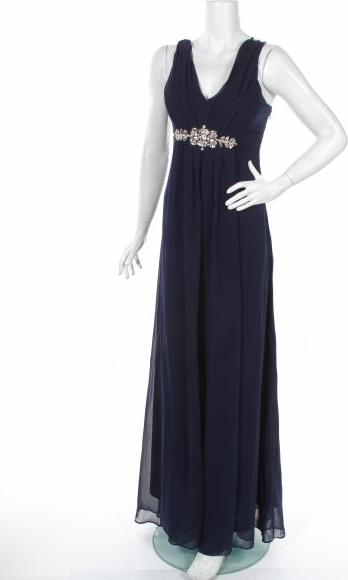 Niebieska sukienka Goddiva maxi