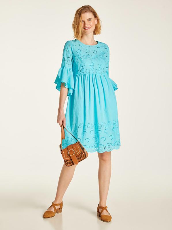 Niebieska sukienka Heine z bawełny midi