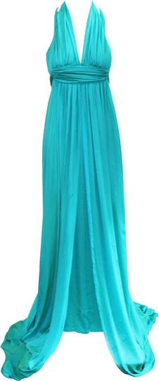 Niebieska sukienka Hermès Vintage maxi