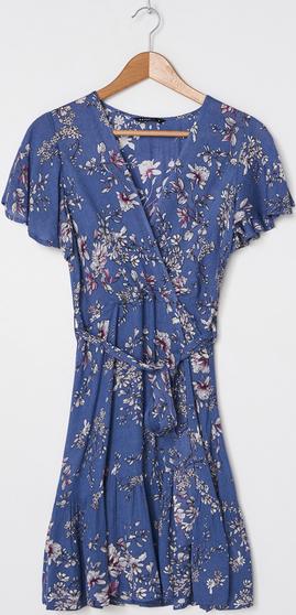 Niebieska sukienka House w stylu casual mini