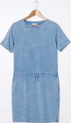 Niebieska sukienka House z krótkim rękawem