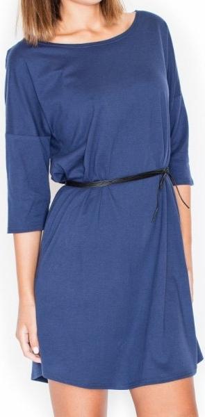 Niebieska sukienka Katrus mini z bawełny