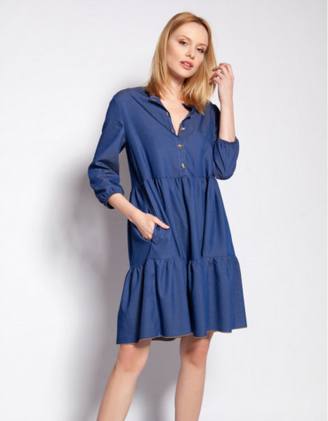 Niebieska sukienka Lanti mini