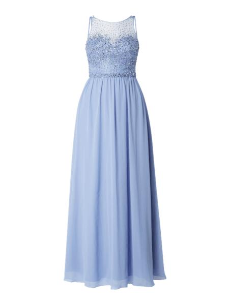 Niebieska sukienka Laona bez rękawów maxi