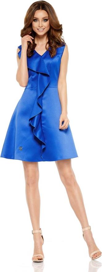 Niebieska sukienka Lemoniade mini z dekoltem w kształcie litery v